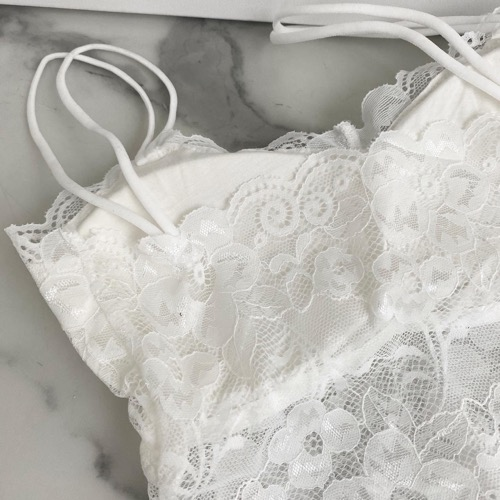Lace bralette (white /black)