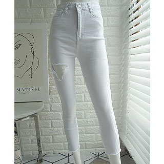 White cutting pants