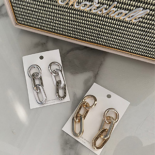 Chain earring (silver/ gold)