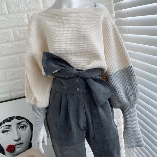Cape puff crop knit