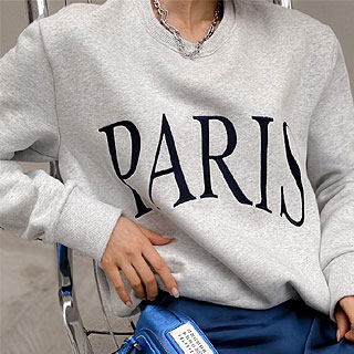 Paris vintage sweatshirt (White / black / melange gray)