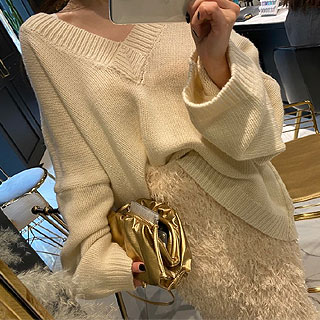 Acne deep v - neck knit