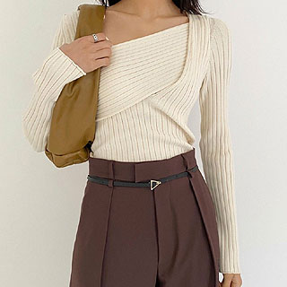 Bottega twist knit (ivory/ black/ yellow) 2월초 순차배송!!