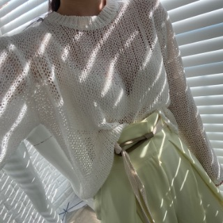 See-through net knit