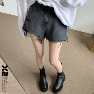 [X2] Miller denim shorts (Blue / Dark Gray)