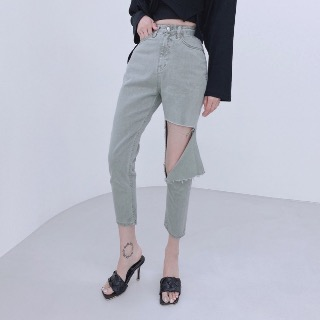 Color cutting pants