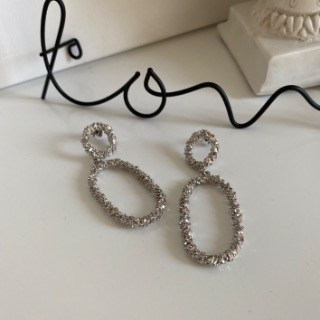 Elliptical ring earrings.