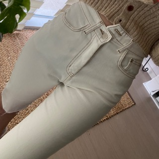 Unbalance obi 5 cream pants 사이즈품절할인 49000